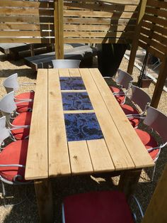 Three fused panels inserted into a hotel garden table. It was to have uplighting, but I never did see them installed :(