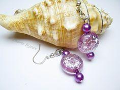 Cercei lila, by charm.bijoux, 6 Lei