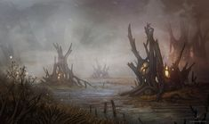 Alyn Spiller is a Welsh concept artist who's worked with brands like Cryptozoic, Fantasy Flight Games and GamerMats on projects like the Lord of the Rings, Game of Thrones and Warhammer board and card games. Impressive stuff.