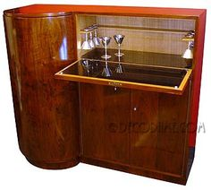 Art Deco Rosewood Cocktail Cabinet