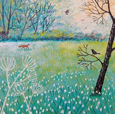 Signs of Spring - acrylic on a 6 x 6 inch canvas (SOLD).
