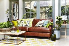 Style your sitting room around your sofa with these nature inspired ideas http://www.countryliving.co.uk/homes-interiors/interiors/create-a-room-scheme-inspired-by-nature #spon