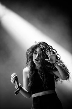 Lorde performing at the Osheaga Music Festival, Montreal August 2014