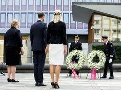I dag var Kronprinsen og Kronprinsessen til stede på flere minneseremonier i anledning angrepene i Oslo og på Utøya 22. juli 2011.