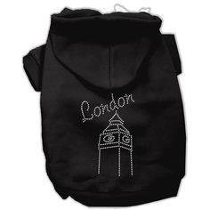 Mirage Pet Products London Rhinestone Hoodies, Black, Size 10 ** More info could be found at the image url. (This is an affiliate link and I receive a commission for the sales)