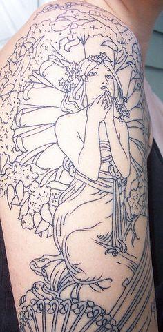 my mucha tattoo by Heatherjeany, via Flickr