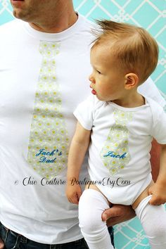 Father's Day Gift Set Baby Boy and Daddy by ChicCoutureBoutique, $53.50