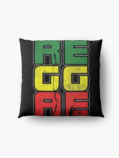 'Reggae Music Quote' Floor Pillow by EddieBalevo Laptop Cases, Phone Cases, Wall Tapestries, Tapestry, Throw Blankets, Throw Pillows, Lion Of Judah, Reggae Music, Music Quotes