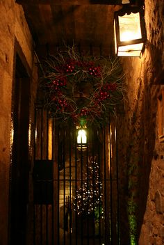 Christmas in Old Town, Edinburgh, Scotland