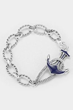 Nautical Bracelet in Silver | Women's Clothes, Casual Dresses, Fashion Earrings & Accessories | Emma Stine Limited