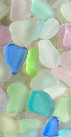 lavender, cobalt and turquoise sea glass #TidesTreasures #Beach #Maine
