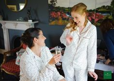 Pajamas and processco, what more could you ask for! 📸 by Kevin Morris Bridal Suite, Pajamas, Photography, House, Wedding, Beautiful, Women, Fashion, Pjs