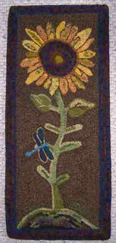 Go Primitive - Primitive Rug Hooking Flower Patterns