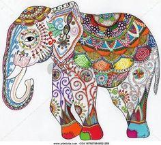 Resultado de imagen para dibujo mandala elefante