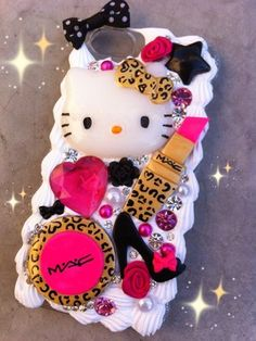Hello Kitty MAC Make Up Cheetah Decoden Inspired Iphone 5 Case + 2 Free Gifts | eBay