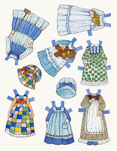 The Ginghams! I'm insanely excited! Printable paper dolls