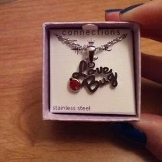 Necklace from Hallmark Stainless Steel Love Bug pendent..  Stainless Steel chain Jewelry Necklaces