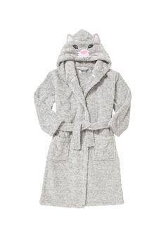 Clothing at Tesco | F&F Cat Hood Marl Dressing Gown > nightwear > F&F > All Brands