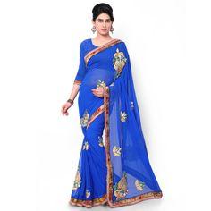 Designer PartyWear Sari Wedding Pakistani Ethnic Dress Bollywood Saree Indian…