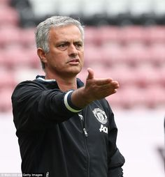 Jose Mourinho was typically animated on the sideline as he took charge of his first Manche...