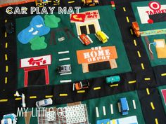 {DIY} Car Play Mat + cute car mat links