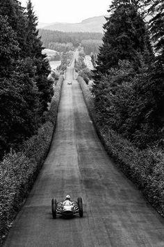"frenchcurious: ""John Surtees (Ferrari) vainqueur du Grand Prix d'Allemagne Nürburgring 1964 - UK Racing History. """