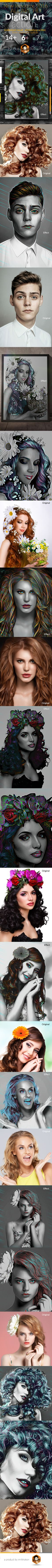 Digital Art Action - Photo Effects Actions