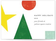 Minted Corporate Holiday Cards By Deconstructed Christmas Tree Corporate Holiday Cards Holiday