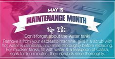 The water tank of your espresso machine is easy to overlook - but it's the last thing you want to get mucky! Today's #MaintenanceMonth tip is a guide for keeping it clean and healthy. #espressomachine #maintenance #tips #waterquality http://ift.tt/1VbgBi2