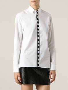 KENZO embroidered placket shirt from Farfetch