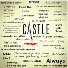 some of many castle quotes