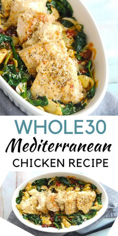 Chicken recipes Mediterranean Chicken} – Healthy Recipes For Better One Life Healthy Chicken Recipes, Paleo Recipes, Healthy Dinner Recipes, Whole Food Recipes, Cooking Recipes, Lunch Recipes, Whole 30 Chicken Recipes, Easy Whole 30 Recipes, Alkaline Recipes