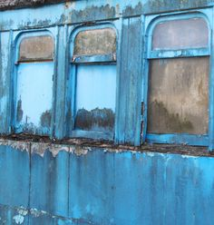weathered blue...