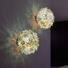 Bloom New: floral wall lighting by Kartell