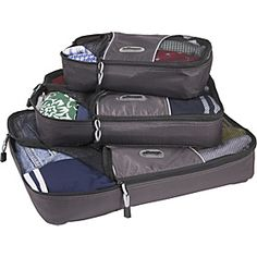 Packing cubes are a definite help when you have to use a large back and weight is less of an option - great for compartmentalising your things for easy retrieval. This set of 3 costs $30