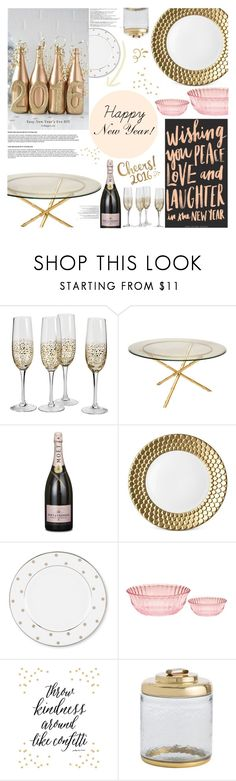 """""""H O M E   Happy New Year!"""" by angel-from-heaven ❤ liked on Polyvore featuring interior, interiors, interior design, home, home decor, interior decorating, MoÃ«t & Chandon, L'Objet, Kate Spade and Balmain"""