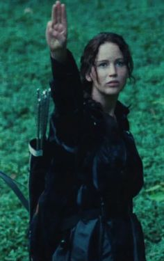 Katniss Everdeen... compassion and solidarity amidst competition