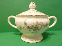 PopeGosser China, Sugar bowl, Made in USA by bjsdodads on Etsy