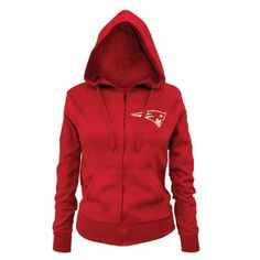 Junior Ladies Full Zip Hood-Red, want.