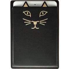 Charlotte Olympia Feline iPad Case ($188) ❤ liked on Polyvore featuring accessories, tech accessories, items, black, charlotte olympia, cat ipad case, ipad sleeve case y ipad cover case