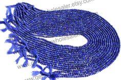 Lapis Lazuli Faceted Roundel Quality AAA / by GemstoneWholesaler, $20.40
