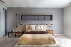 Many people that are trying to update their bedrooms have almost no idea where to begin, which is why many of them many decide to consult with a modern bedroom interior design gallery. Interior Design Gallery, Interior Design Inspiration, Modern Interior, Interior Designers In Hyderabad, Level Homes, Master Bedroom Design, Modern House Plans, Modern Architecture, House Design
