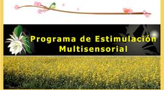 Logopedia creativa: PROGRAMA DE ESTIMULACION MULTISENSORIAL