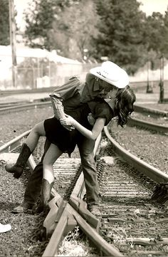 Kiss me down by the railroad tracks and sweep me off of my feet <3