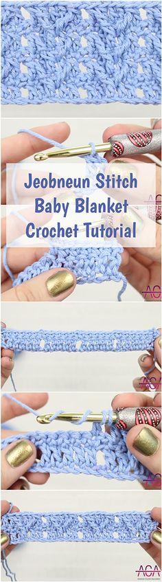 Jeobneun Stitch Baby Blanket Crochet Tutorial