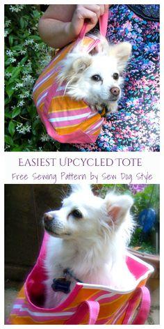 DIY Fabric Dog Sling Carrier Free Sewing Patterns & Paid | Fabric Art DIY Sewing Patterns Free, Free Sewing, Free Pattern, Dog Sling, Sling Carrier, Fabric Art, Upcycle, Corgi, Diy