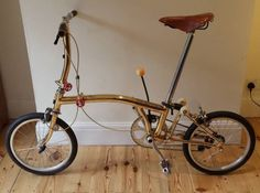The Brompton is a very high quality folding bicycle. Such a classy looking and functional bike. I hope to have one one day.