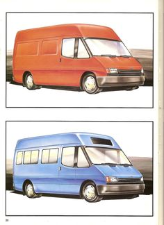 1985 Transit Consept Brochure (very rare) L Ford Transit Camper, Camper Conversion, Automotive Design, Rear Seat, Old Cars, Old School, Vehicles, Concept, Proposals