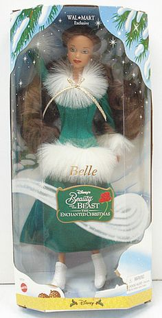 Another view of the 1998 Walmart Beauty and the Beast Enchanted Christmas Belle Doll ---From eBay seller thecollectorsonlinemarket:  http://stores.ebay.com/The-Collectors-Online-Market