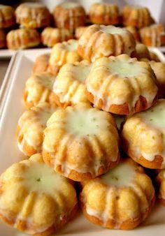 Lime Glazed Mini Bundt Cakes